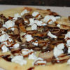 Wild Mushroom, Balsamic and Goat Cheese Naan Pizza