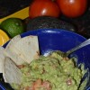 Guacamole and Baked Tortilla Chips