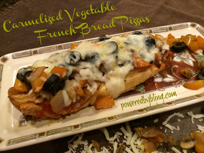 Caramelized Vegetables French Bread Pizza