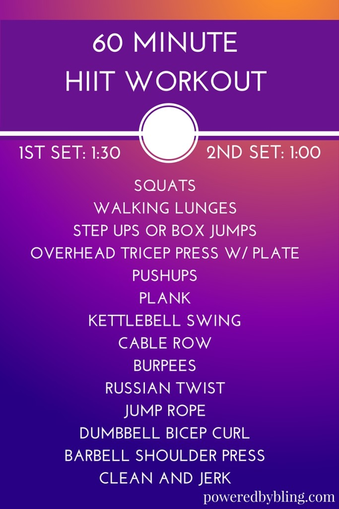 60 Minute Hiit Workout Powered By Bling