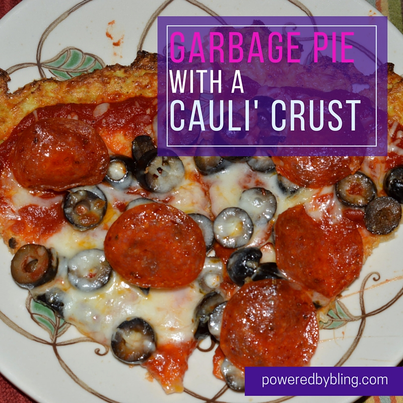 Garbage Pie with a Cauli' Crust