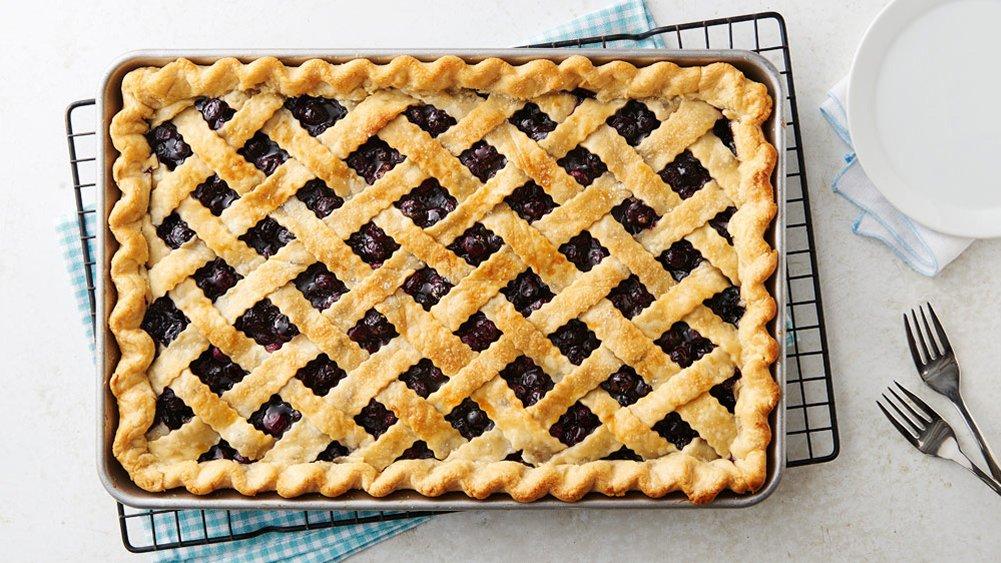 Blueberry Slab Pie Sheet Pan Dinner