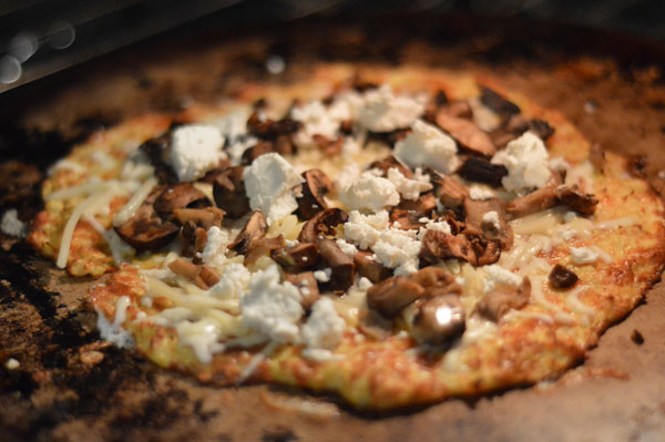Four Cheese Wild Mushroom Cauliflower Pizza4
