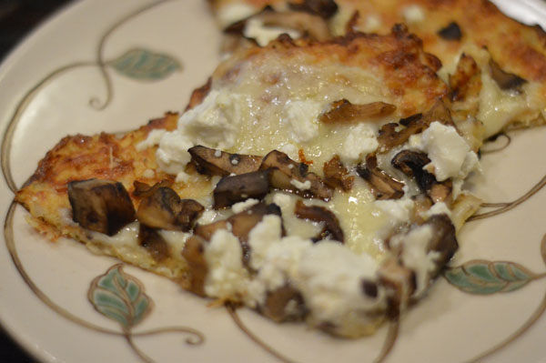 Four Cheese Wild Mushroom Cauliflower Pizza