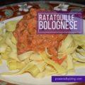 Ratatouille Bolognese
