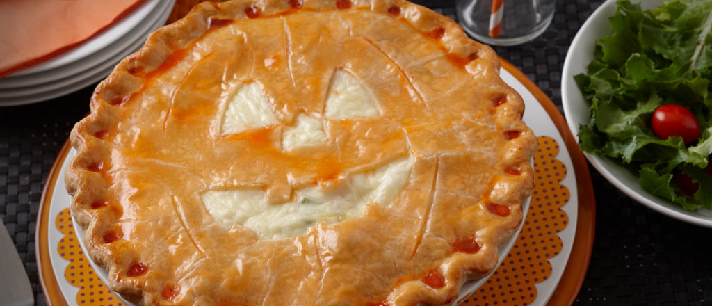 Halloween chicken pot pie