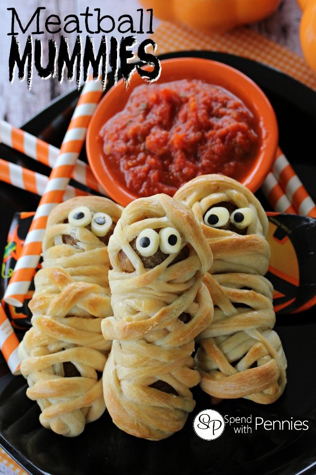 Spooky Halloween Meatball Mummies