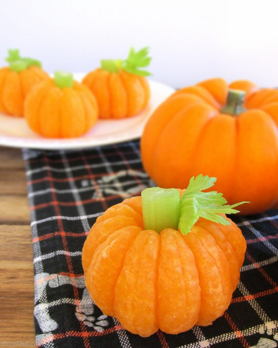 Halloween pumpkin tangerines