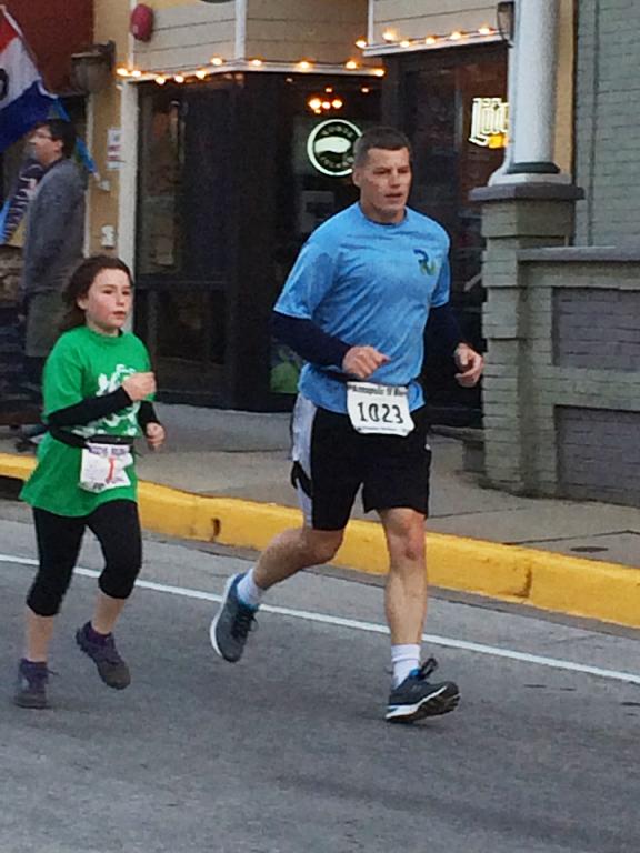 Family running-main-street-mile