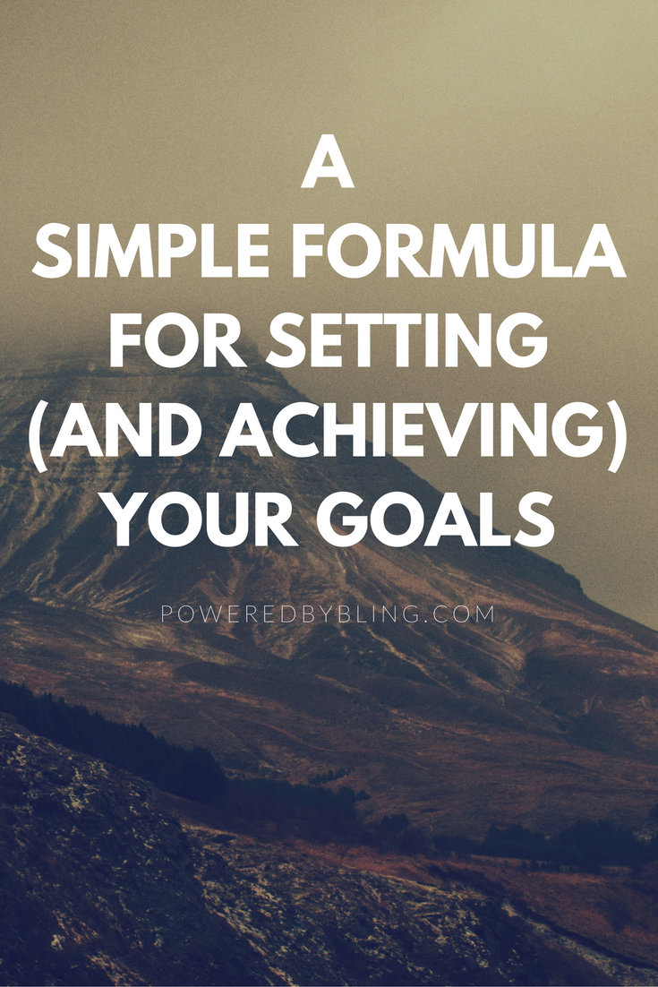 Simple Formula Actionable Goal Setting